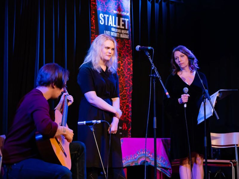 191202 Open Stage med Rebecka O'Nils Trio